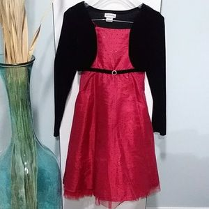 Sweet heart rose red and black dress